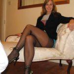 jambes de femme sexy en collants
